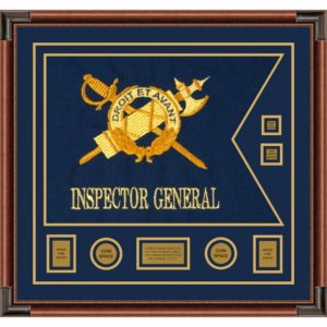 "Inspector General 28"" x 20"" Guidon Design 2820-D3-M4 Framed"