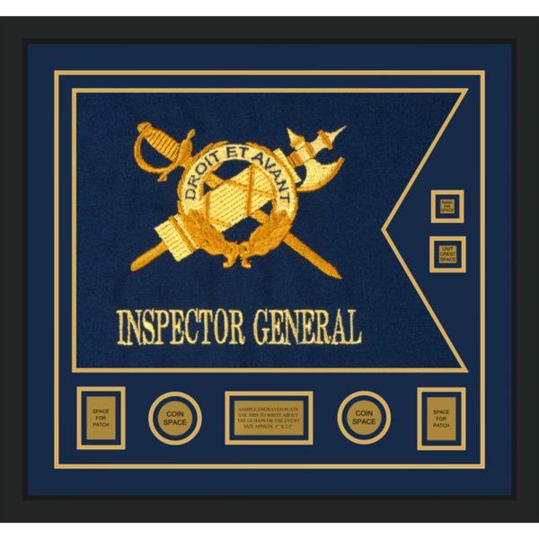 """Inspector General 28"""" x 20"""" Guidon Design 2820-D3-M5 Framed"""