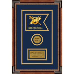 "Inspector General 7"" x 5"" Guidon Design 75-D3-M1 Framed"