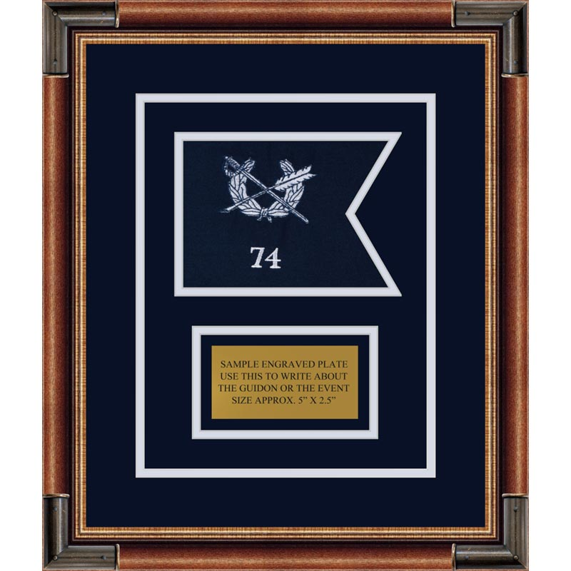 "Judge Advocate General 7"" x 5"" Guidon Design75-D1-M1 Framed"