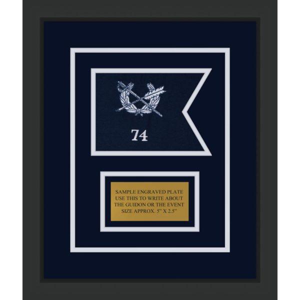 "Judge Advocate General 7"" x 5"" Guidon Design 75-D1-M2 Framed"