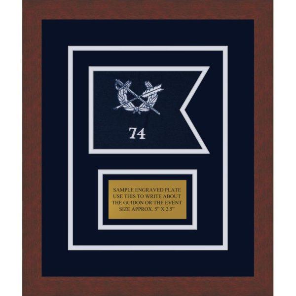 "Judge Advocate General 7"" x 5"" Guidon Design 75-D1-M3 Framed"