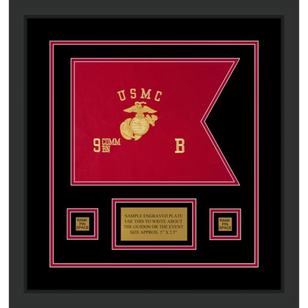 "Marine Corps 12"" x 9"" Guidon Design 129-D1-M2"