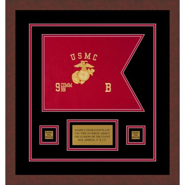 "Marine Corps 12"" x 9"" Guidon Design 129-D1-M3"