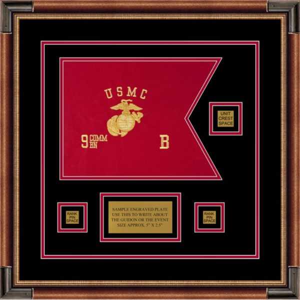 "Marine Corps 12"" x 9"" Guidon Design 129-D2-M1"