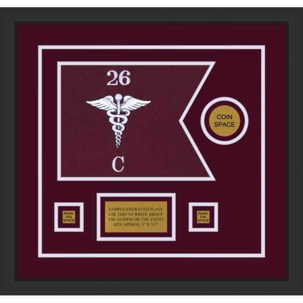 "Medical 12"" x 9"" Guidon Design 129-D3-M2"