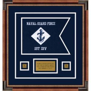 "Navy 12"" x 9"" Guidon Design 129-D1-M1"