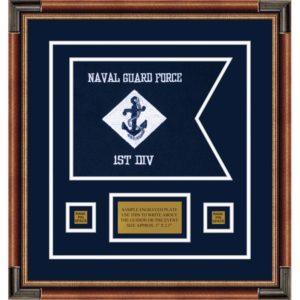 """Navy 12"""" x 9"""" Guidon Design 129-D1-M1"""