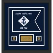 """Navy 12"""" x 9"""" Guidon Design 129-D1-M2"""