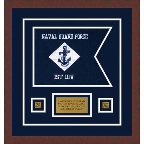 """Navy 12"""" x 9"""" Guidon Design 129-D1-M3"""