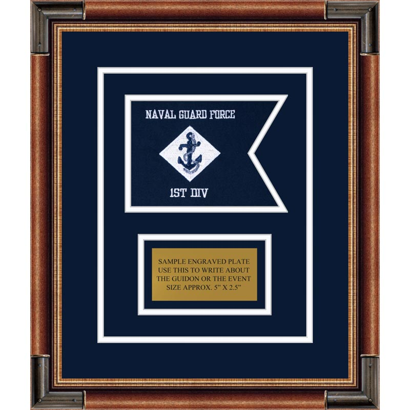 "Navy 7"" x 5"" Guidon Design 75-D1-M1"