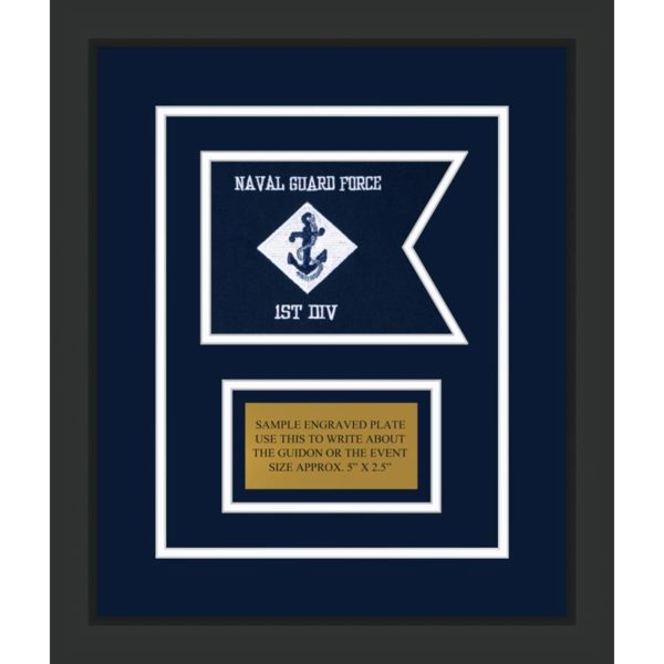 "Navy 7"" x 5"" Guidon Design 75-D1-M2"