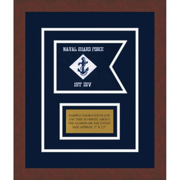 "Navy 7"" x 5"" Guidon Design 75-D1-M3"