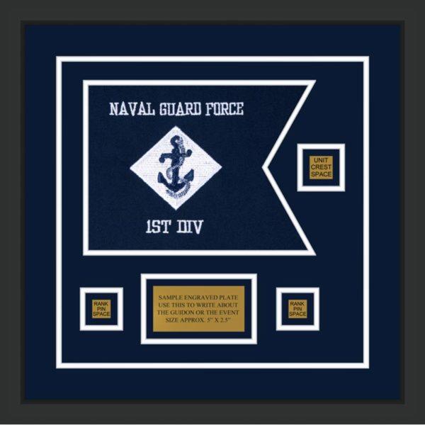 """Navy 12"""" x 9"""" Guidon Design 129-D2-M2"""