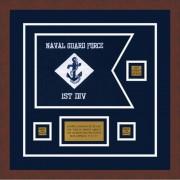 """Navy 12"""" x 9"""" Guidon Design 129-D2-M3"""