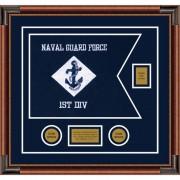 """Navy 20"""" x 15"""" Guidon Design 2015-D2-M4"""