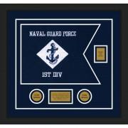 """Navy 20"""" x 15"""" Guidon Design 2015-D2-M5"""