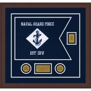 """Navy 20"""" x 15"""" Guidon Design 2015-D2-M6"""