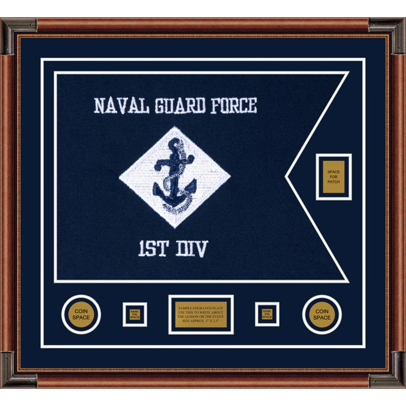 "Navy 28"" x 20"" Guidon Design 2820-D2-M4"