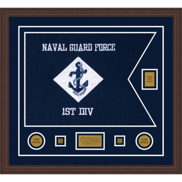 "Navy 28"" x 20"" Guidon Design 2820-D2-M6"