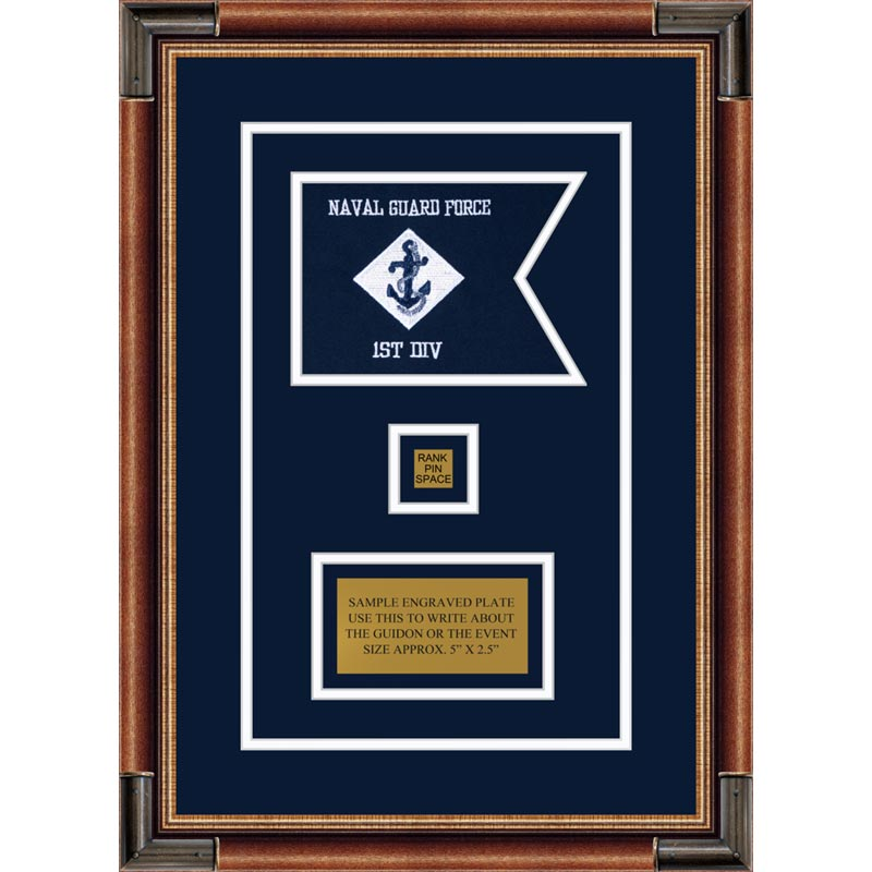 "Navy 7"" x 5"" Guidon Design 75-D2-M1"