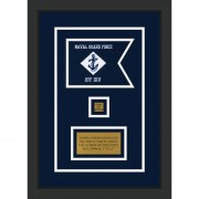 "Navy 7"" x 5"" Guidon Design 75-D2-M2"
