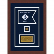 "Navy 7"" x 5"" Guidon Design 75-D2-M3"