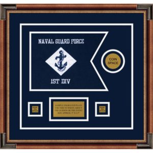 "Navy 12"" x 9"" Guidon Design 129-D3-M1"