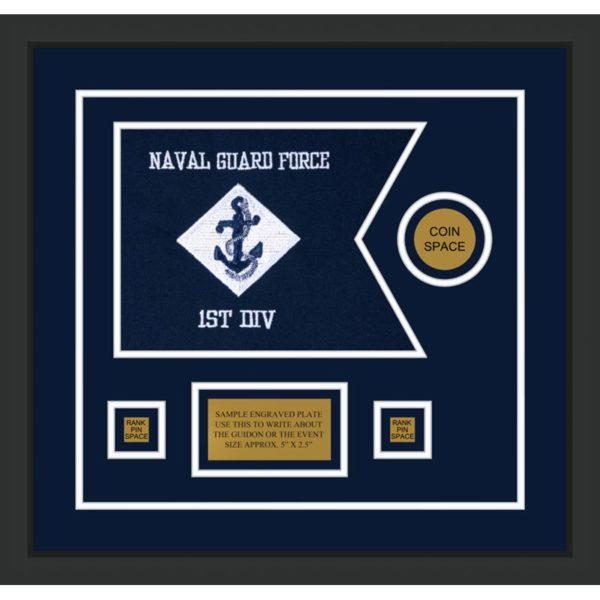 """Navy 12"""" x 9"""" Guidon Design 129-D3-M2"""