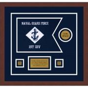"""Navy 12"""" x 9"""" Guidon Design 129-D3-M3"""