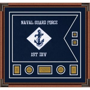 "Navy 28"" x 20"" Guidon Design 2820-D3-M4"