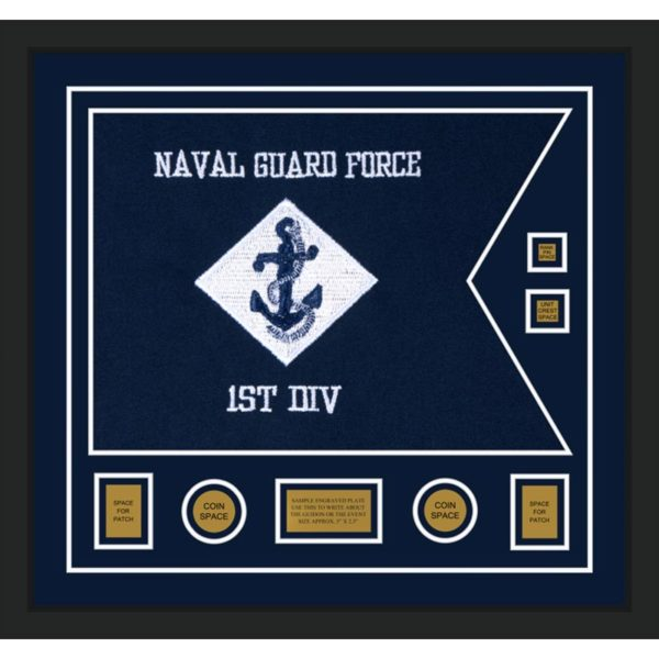 "Navy 28"" x 20"" Guidon Design 2820-D3-M5"