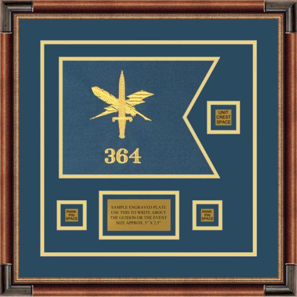 "Public Affairs 12"" x 9"" Guidon Design 129-D2-M1"