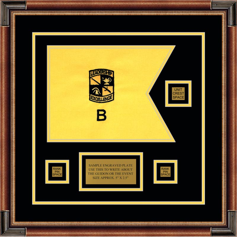 Rotc 12 X 9 Guidon Design 129 D2 Framed Guidons
