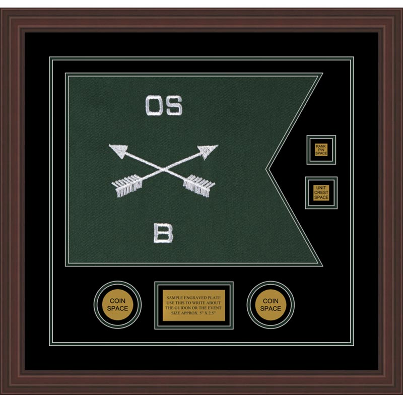 Special Forces 20 X 15 Guidon Design 2015 D3 M6 Framed
