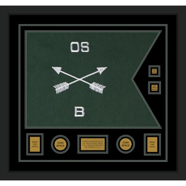 """Framed Special Forces 28"""" x 20"""" Guidon Design 2820-D3-M5"""