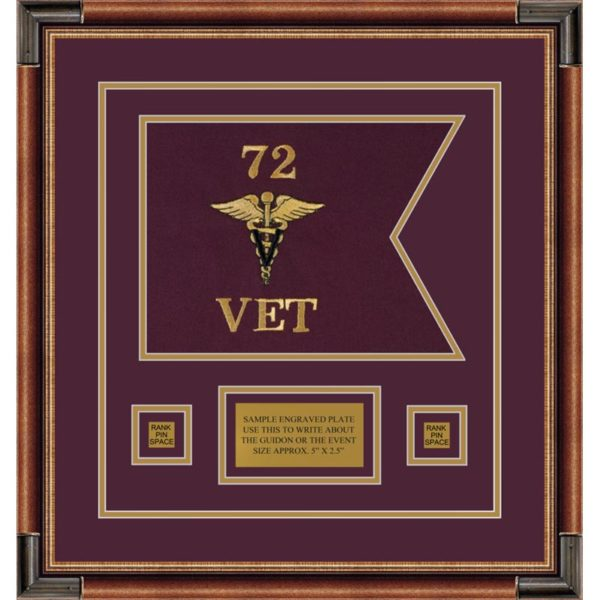 "Veterinary Corps 12"" x 9"" Guidon Design 129-D1-M1"