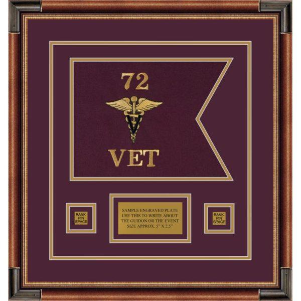 "Veterinary Corps 12"" x 9"" Guidon Design 129-D1-M1"