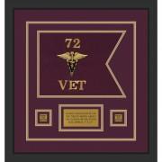 "Veterinary Corps 12"" x 9"" Guidon Design 129-D1-M2"