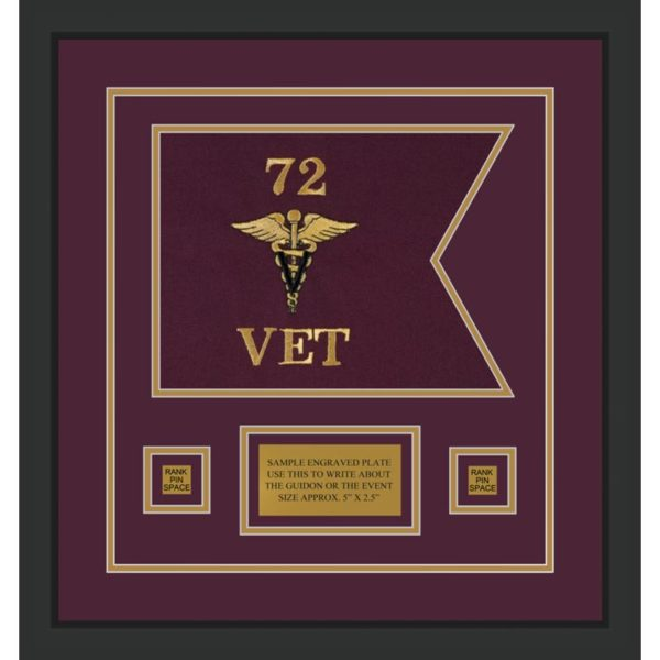 "Veterinary Corps 12"" x 9"" Guidon Design 129-D1-M2"