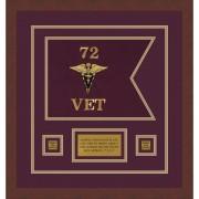 "Veterinary Corps 12"" x 9"" Guidon Design 129-D1-M3"