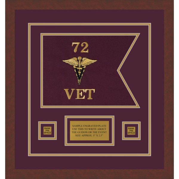 "Veterinary Corps 12"" x 9"" Guidon Design 129-D1-M3"
