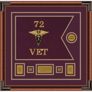 "Veterinary Corps 20"" x 15"" Guidon Design 2015-D1-M4"