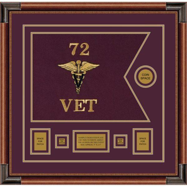 "Veterinary Corps 20"" x 15"" Guidon Design 2015-D1-M4"