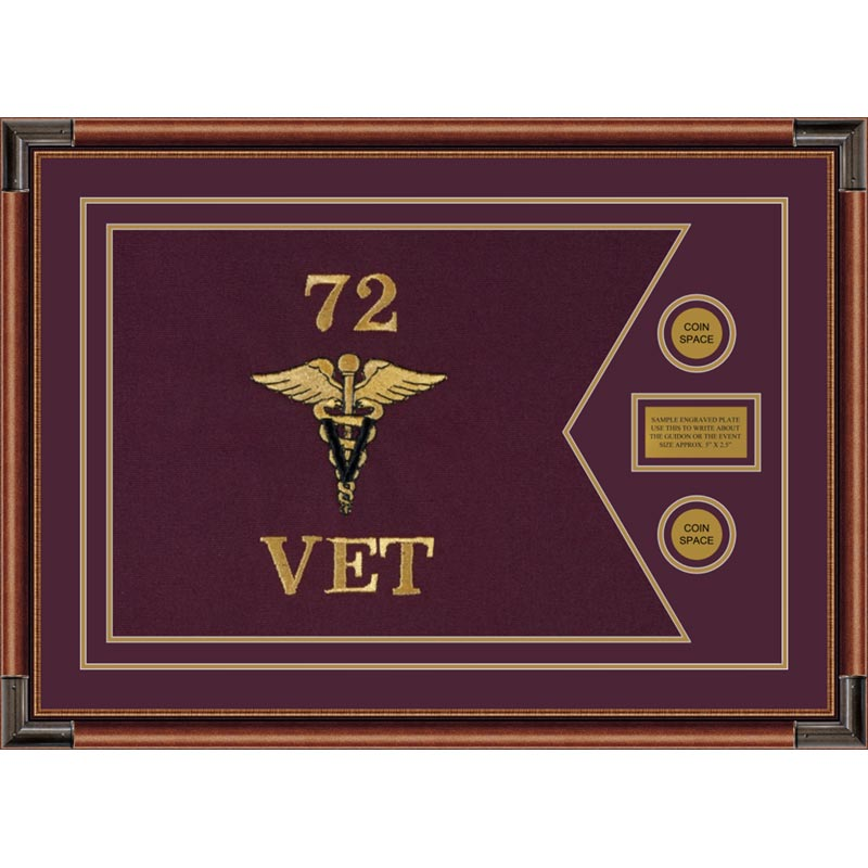 "Veterinary Corps 28"" x 20"" Guidon Design 2820-D1-M4"
