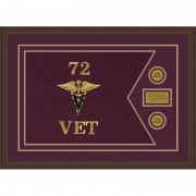 "Veterinary Corps 28"" x 20"" Guidon Design 2820-D1-M6"