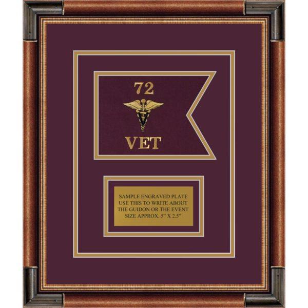 "Veterinary Corps 7"" x 5"" Guidon Design 75-D1-M1"
