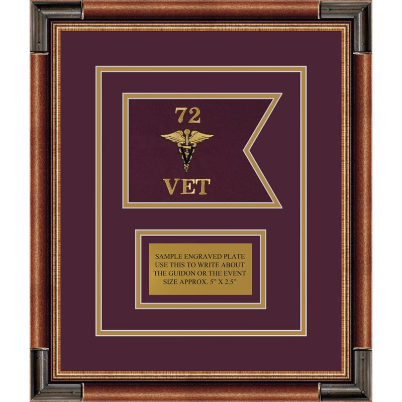 "Veterinary Corps 7"" x 5"" Guidon Design 75-D1-M1"