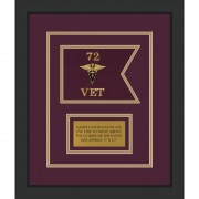 "Veterinary Corps 7"" x 5"" Guidon Design 75-D1-M2"