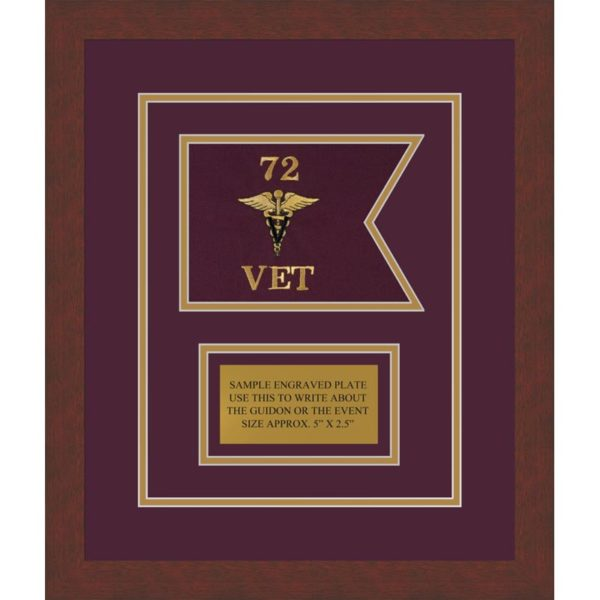 "Veterinary Corps 7"" x 5"" Guidon Design 75-D1-M3"